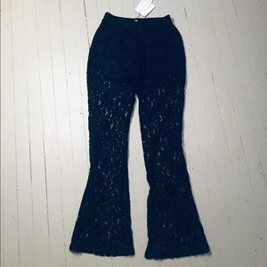 Pants - Lacy bell bottom pants - brand NEW!